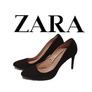 "🤑 Zara Basic Size 39 Black Women Shoes 3.5"""